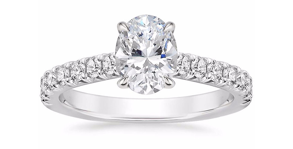 """""""LOUISA"""" OVAL DIAMOND SOLITAIRE ENGAGEMENT RING"""