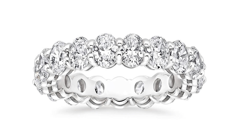 """ELLA"" OVAL DIAMOND ETERNITY RING (3 CTW)"