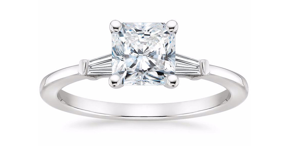 """LIV"" RADIANT DIAMOND THREE STONE ENGAGEMENT RING"