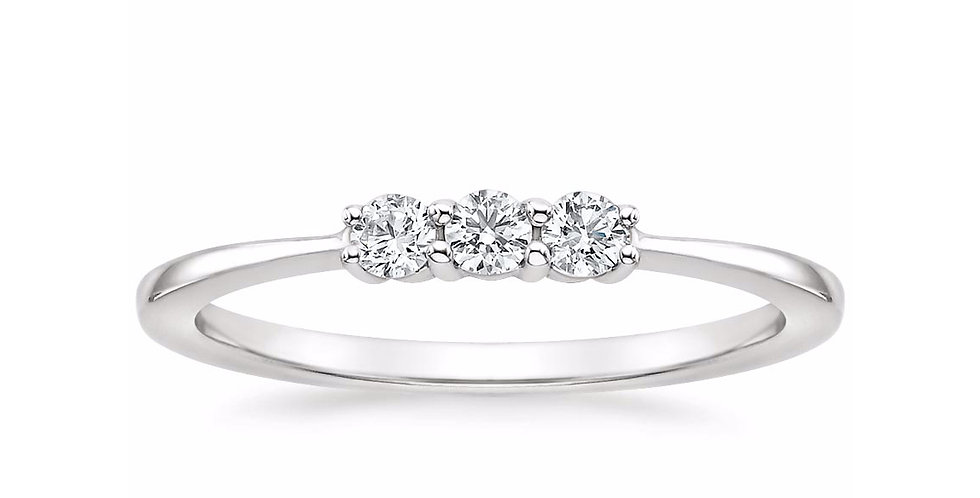 """MILA"" THREE STONE WEDDING RING"