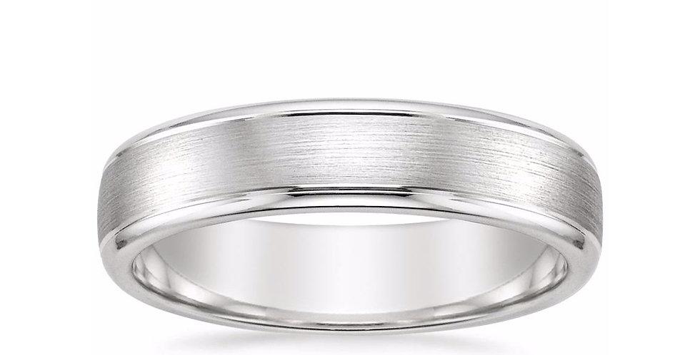 """LOGAN"" BEVELED EDGE WEDDING RING (5 MM)"