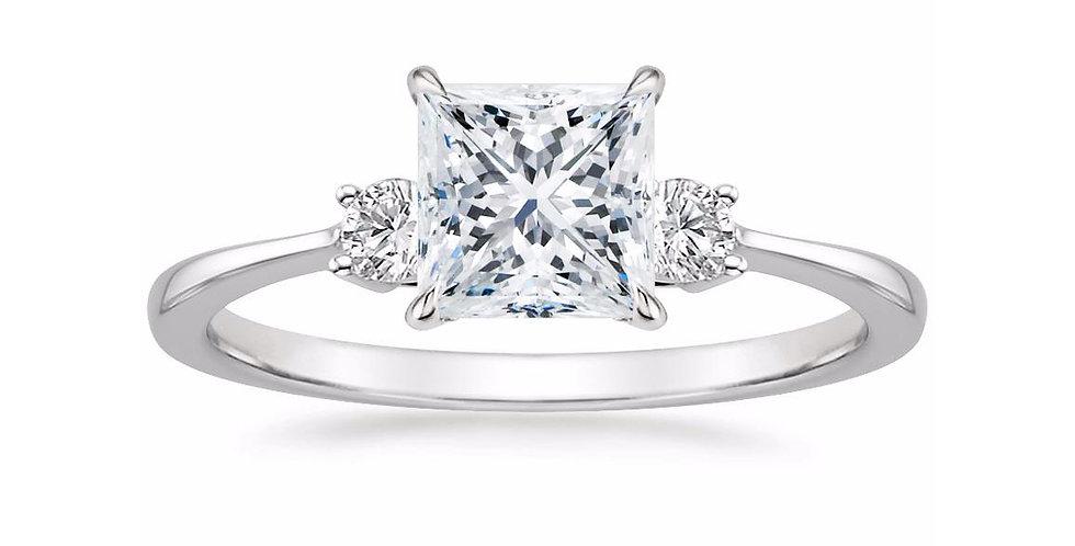 """LIZA"" PRINCESS DIAMOND THREE STONE ENGAGEMENT RING"