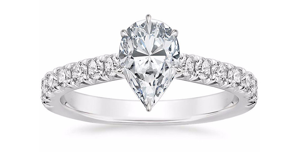 Pear Diamond Solitaire Louisa Engagement Ring