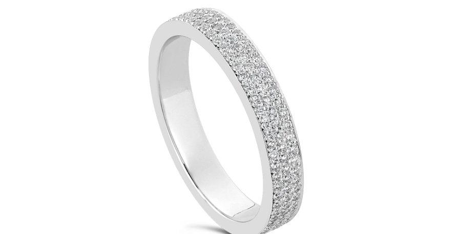"""KATE"" DIAMOND PAVE WEDDING RING"