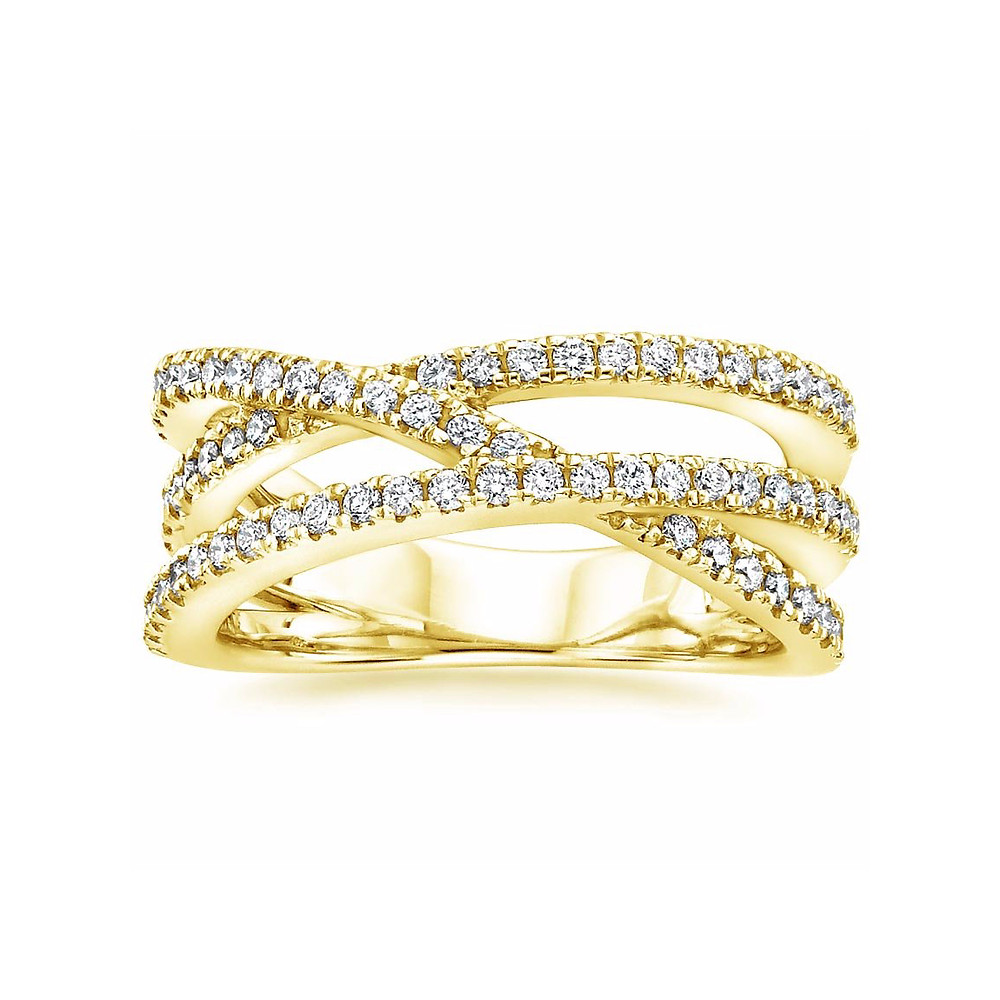 Pave Diamond Eternity Engagement Ring