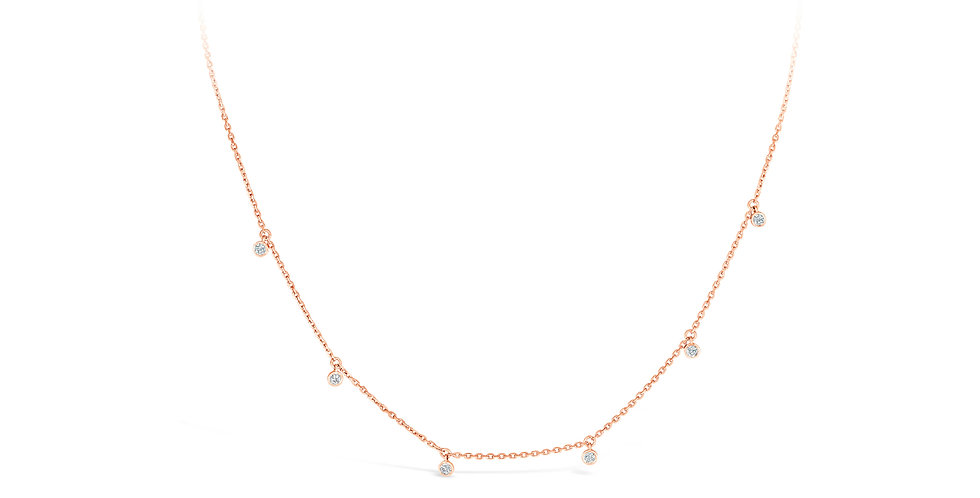 Diamond Drop Karly Necklace