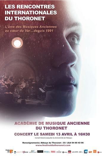 Affiche Académie de Musque Ancienne du Thoronet