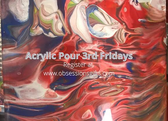 Acrylic Pour 3rd Fridays
