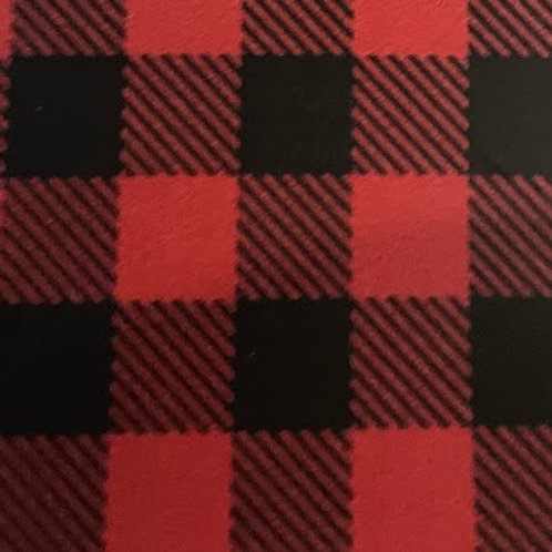 Patterned Red Plaid HTV