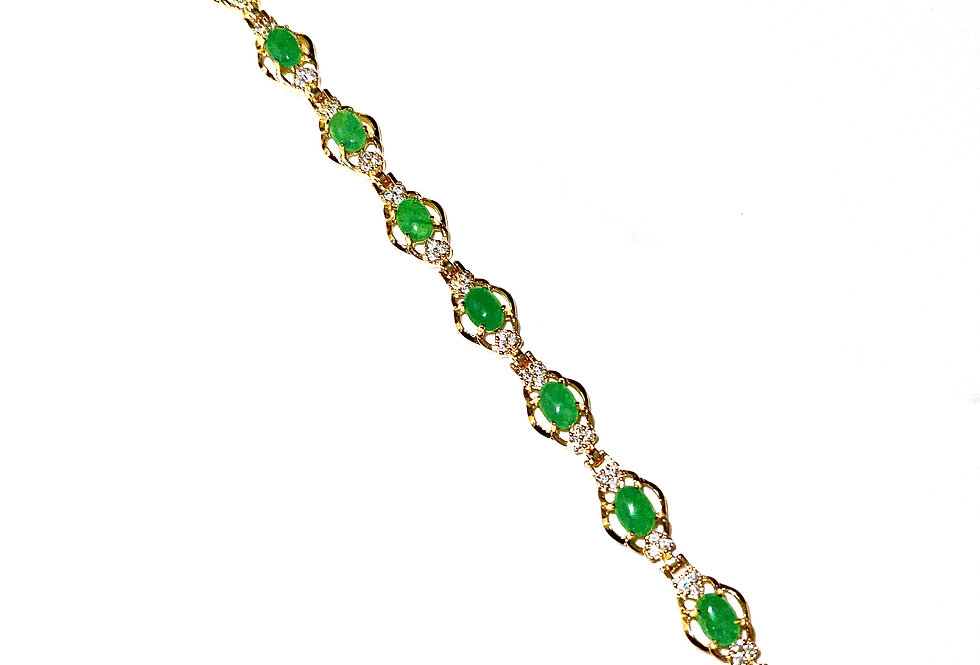 Diamond Jade Bracelet
