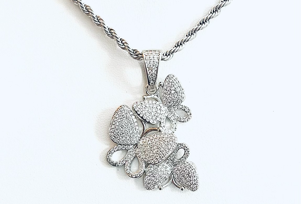 Stainless Steel Triple Butterfly Chain
