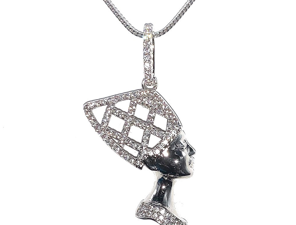 Sterling Silver Queen Nefertiti