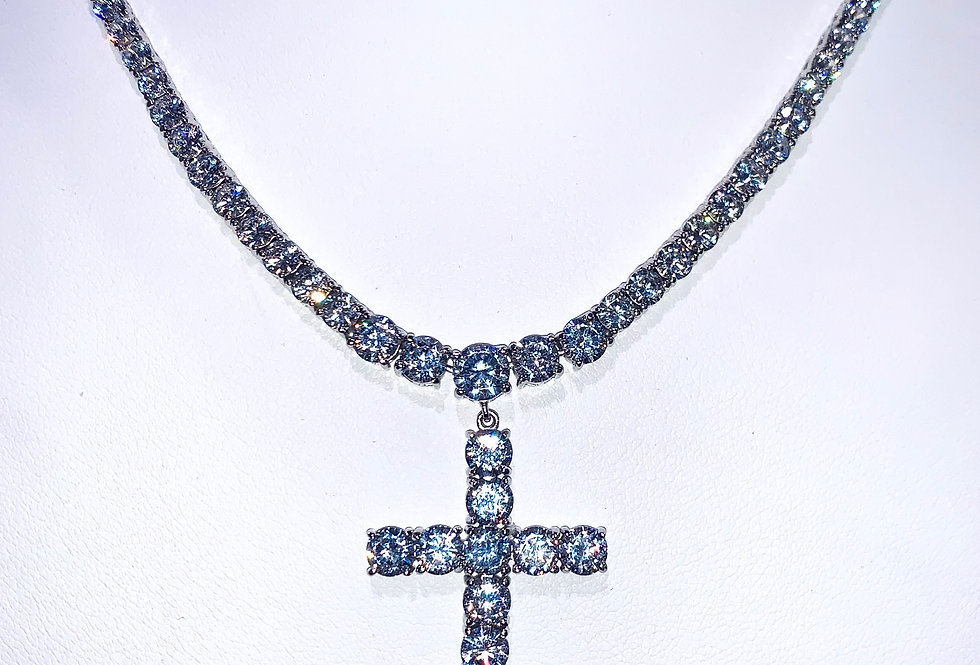 Diamond Cross Choker