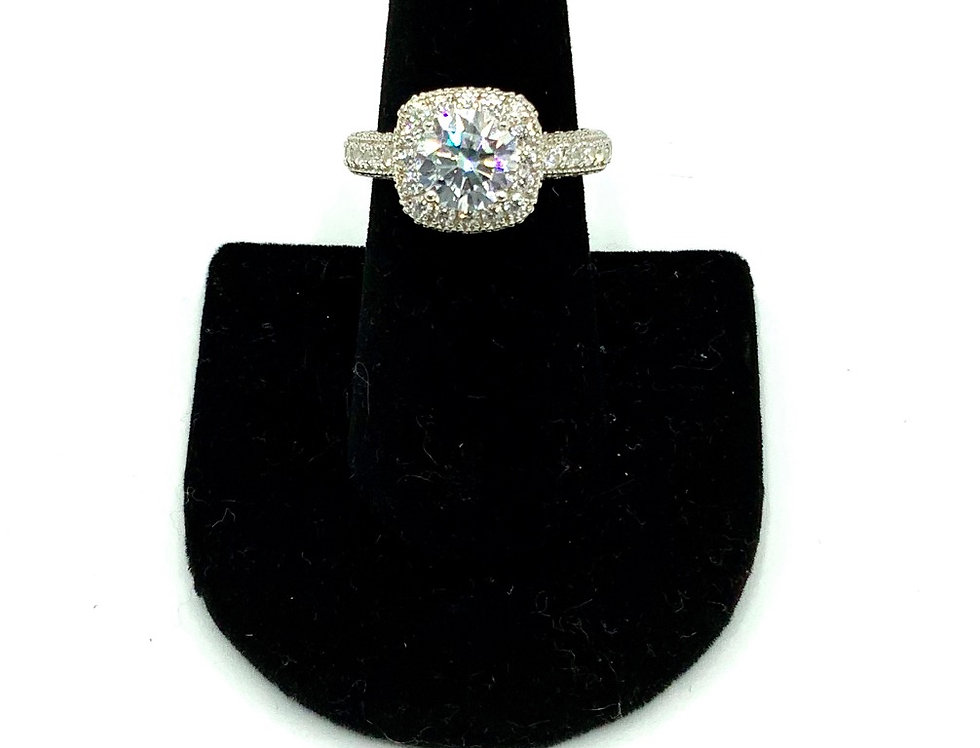 Sterling Silver Daniella Engagement Ring