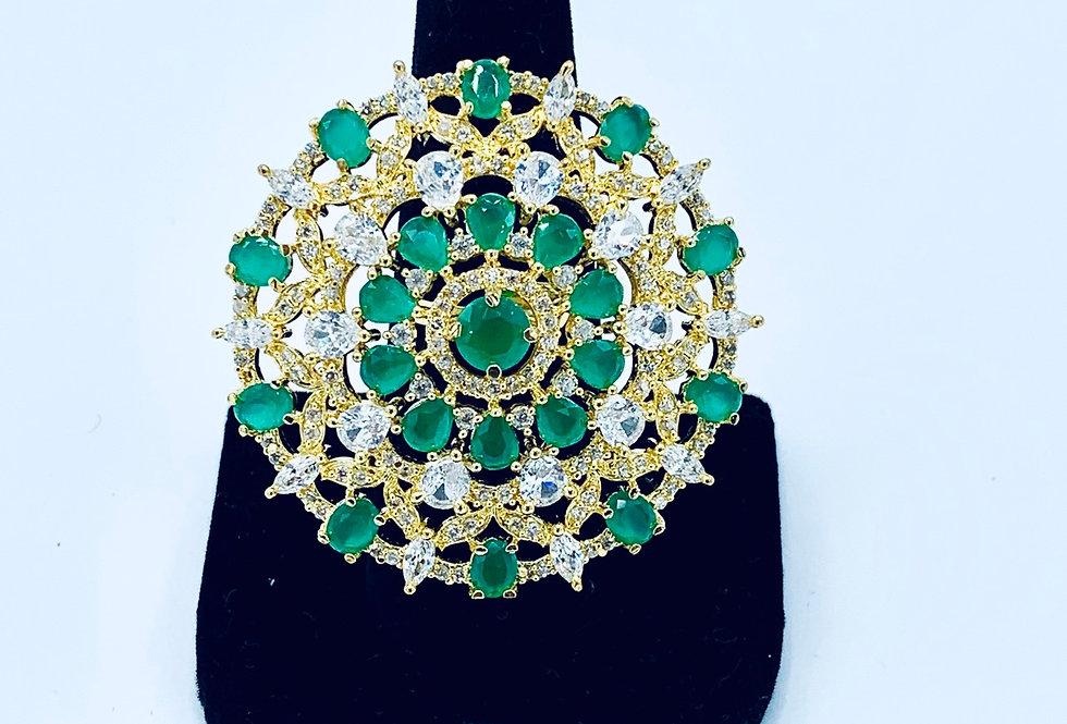 Diamond Jade Ring