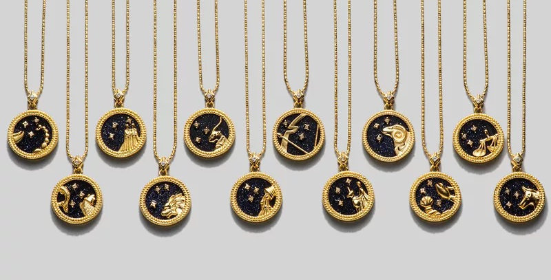 Gold-Plated Sterling Silver Zodiac