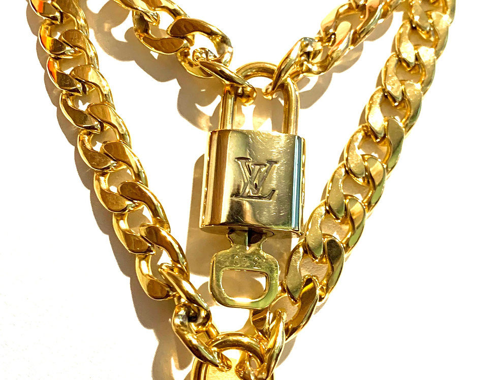 Authentic LV Lock Chain