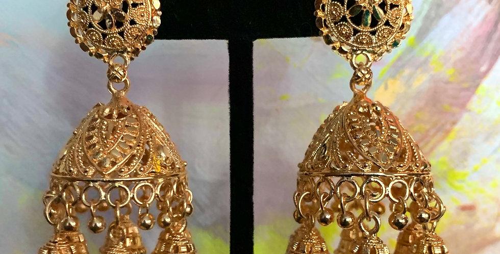 Anjali Gold Earring