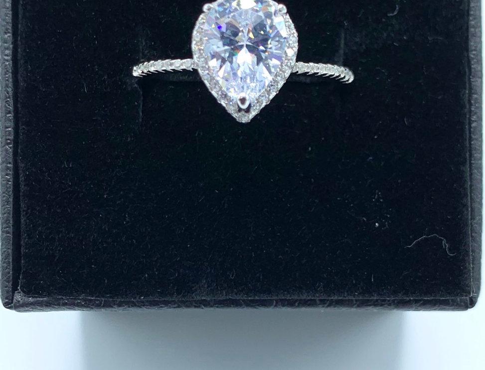 Sterling Silver Mini Diamond Engagement