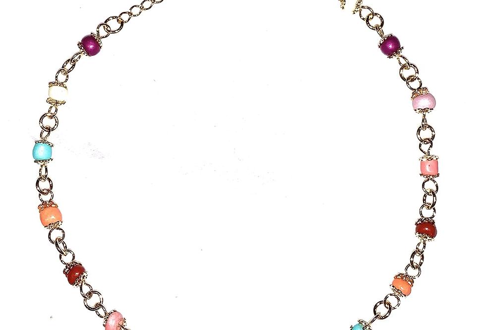 Rainbow Bead Anklet