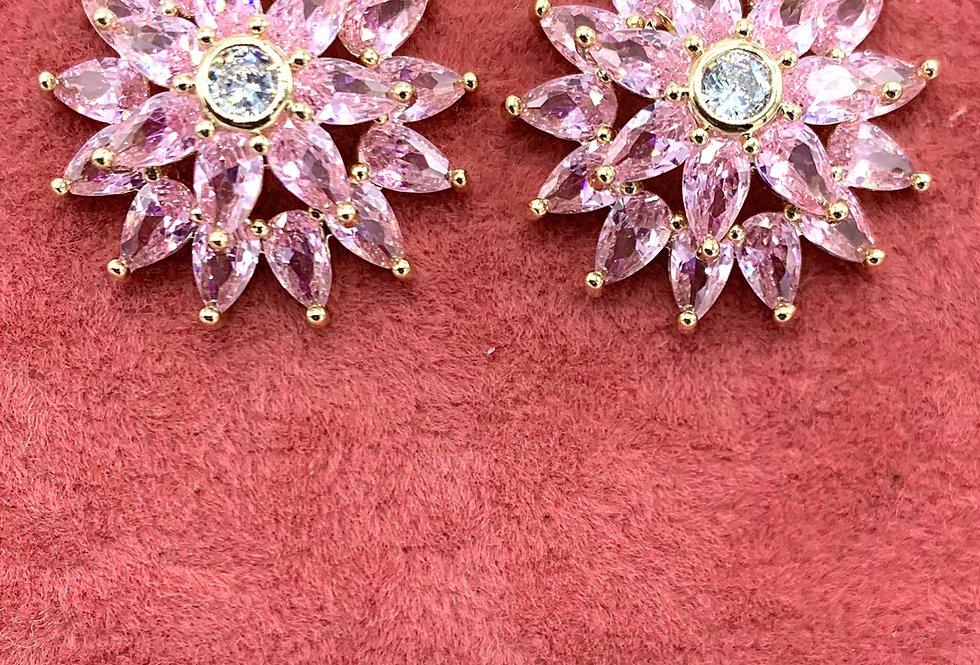 Pink Starburst Studs