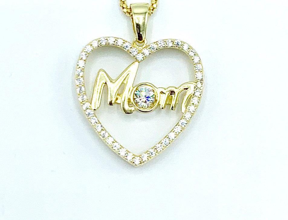 "Sterling Silver ""Mom"" Sweetheart"