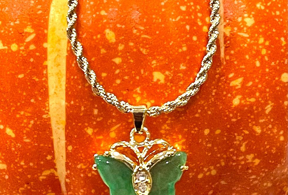 Mini Jade Butterfly