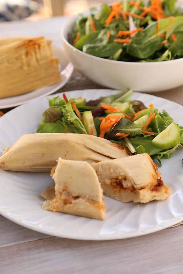 Tamales veganos bajos en grasa (¡sin aceite!)