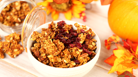 Pumpkin Spice Granola (no oil, no sugar)