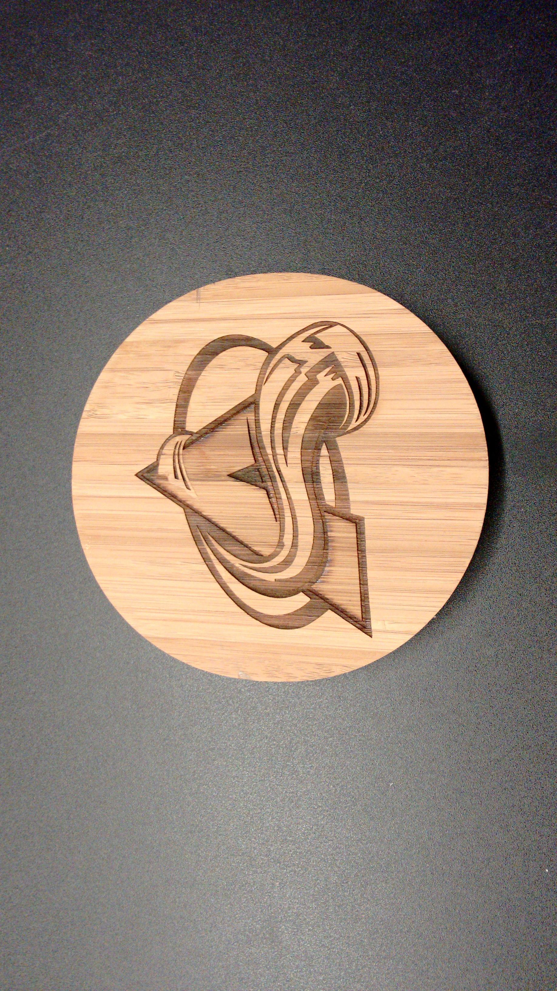 Multi-Depth Lasered Logo