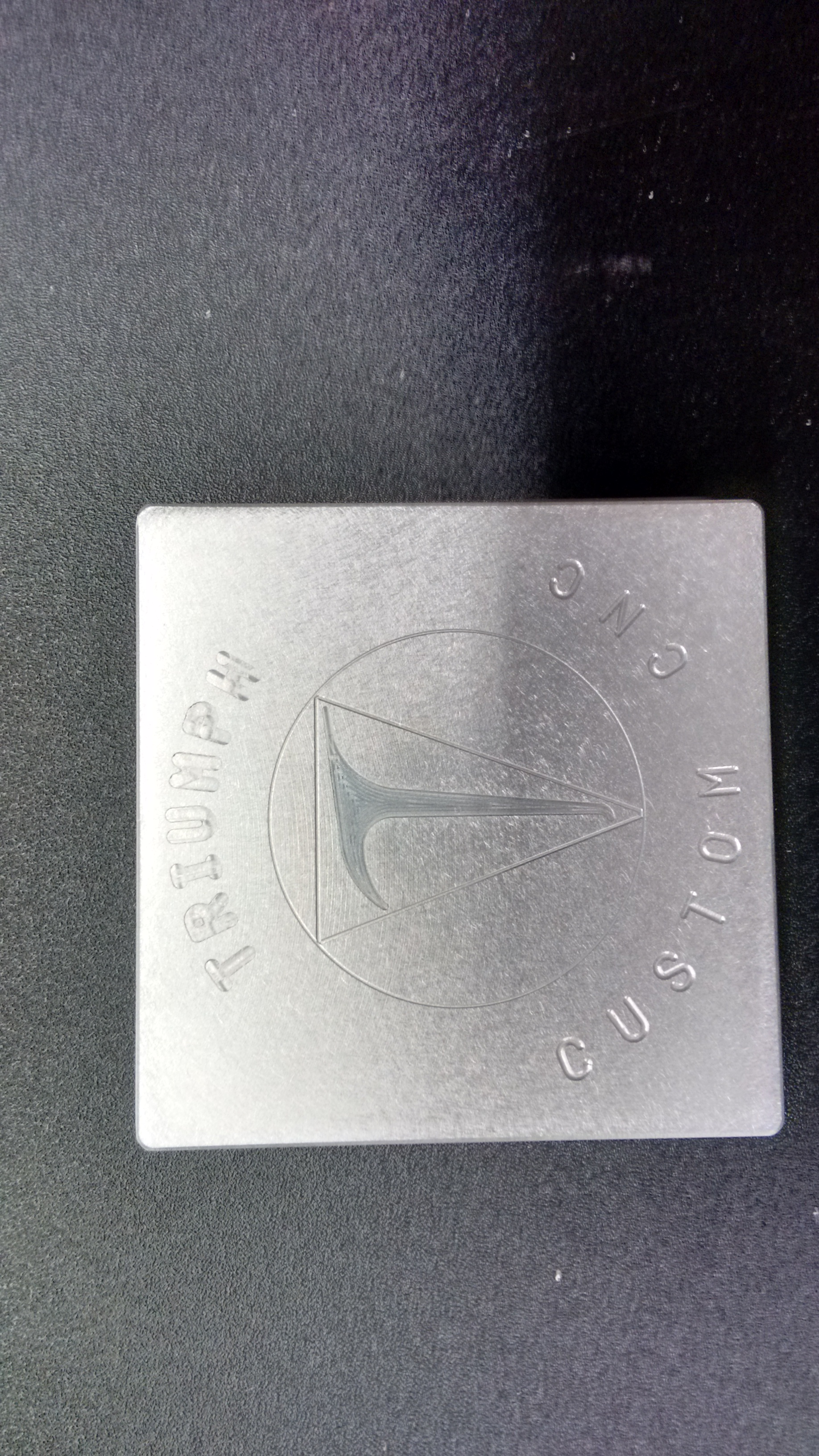 Engraving on Aluminum