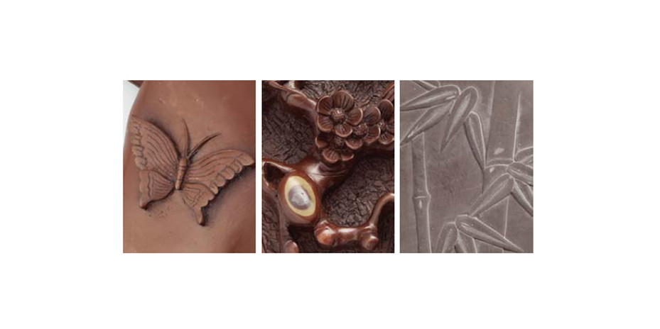 左가지문벼루  |  中매화문벼루  |  右대나무벼루