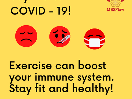 Say no to COVID-19. Stay fit and healthy!