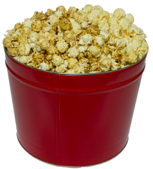 2 Gallon Red Kettle Corn Tin