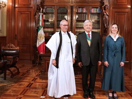 El Presidente de la República Saharaui, Brahim Gali, agradece la hospitalidad mexicana