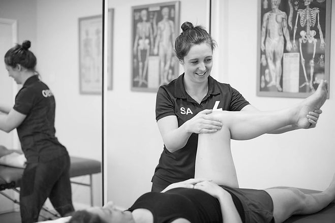 Sophie Tye 4 Performance Physio Treating a Client