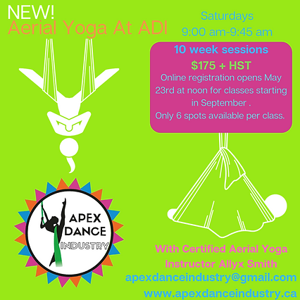 NEW! Aerial Yoga At ADI with Certified I