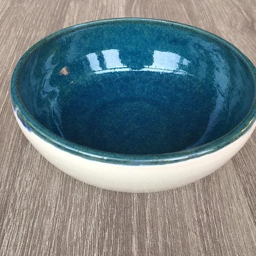 Porcelænsskål med havblå