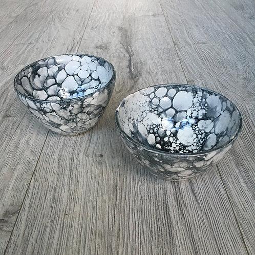 Yougurtskåle lavet med sæbebobler