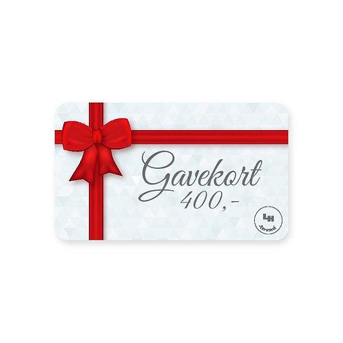 Gavekort - 400 kr