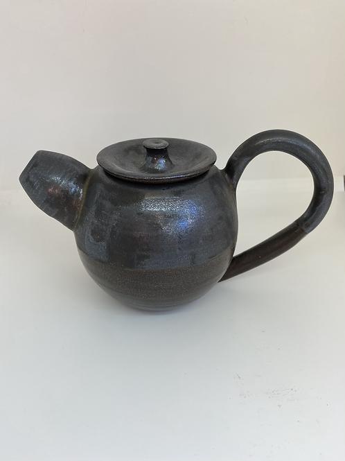 Tekande - Bronze på sort ler