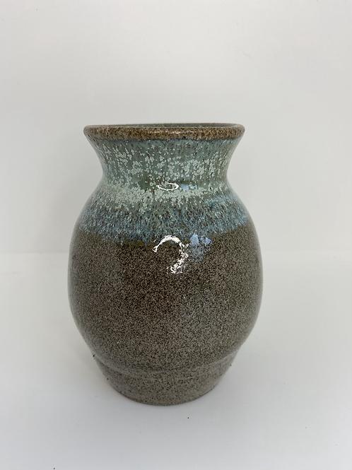 Rustik vase med kobbergrøn top