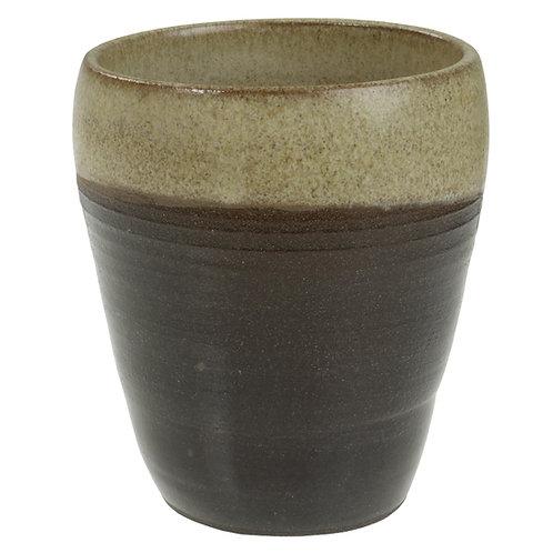 Kop i sort ler - Sandfarvet