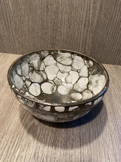 """Skål med bronze """"bobler"""""""