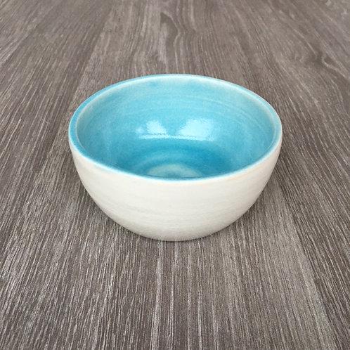 Porcelænsskål med turkis