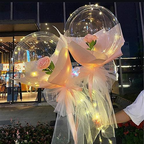 Dusty Rose Bouquet Bubble Balloon
