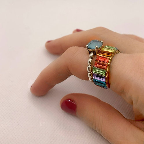 Over The Rainbow Eternity Ring (bright)