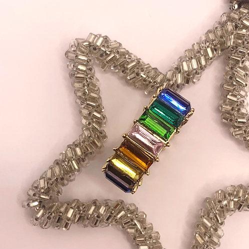 Over The Rainbow Eternity Ring (dark)