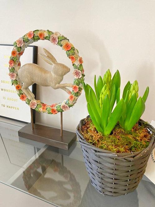Wooden Easter Bunny Wreath