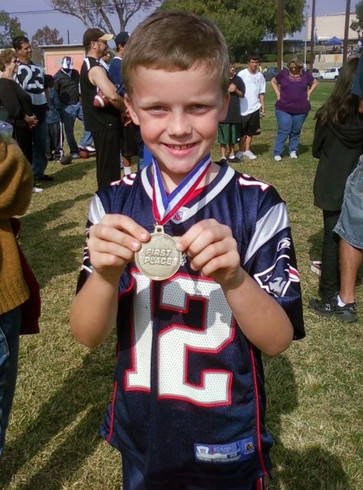 NFL Punt Pass Kick 1st Place Los Angeles County Sectionals, 8 Years old
